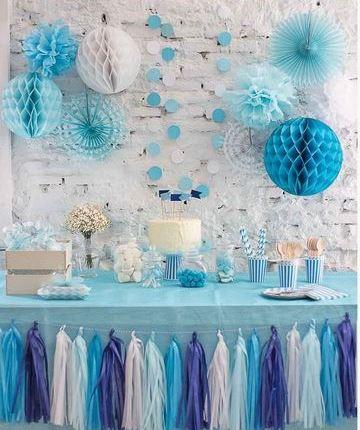 decoracion fiestas patrias argentinas con varios elementos de papel