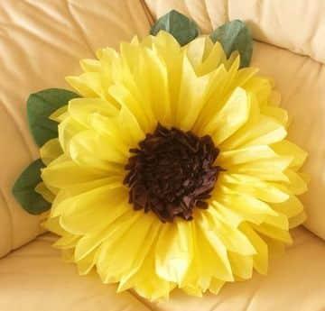 flores de papel seda grandes para decorar la sala