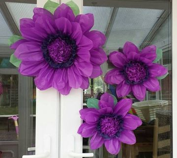 flores de papel seda grandes para fiestas