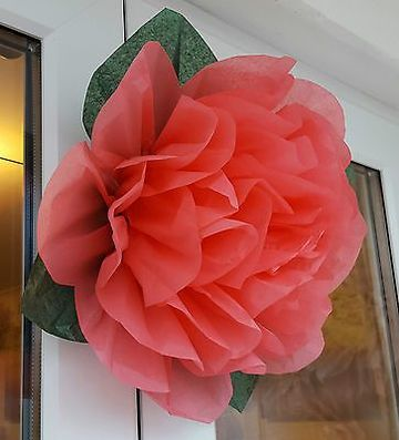 flores de papel seda grandes pon pon