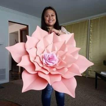 modelos de flores de cartulina gigantes