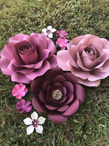modelos de flores de cartulina para bodas