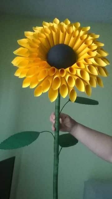 modelos de flores de cartulina para decorar