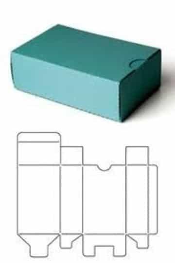 plantillas de cajas de carton rectangular