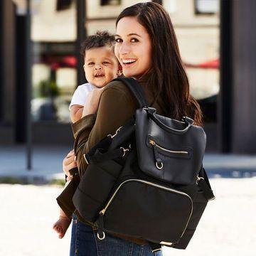 bolsos de bebe modernos en cuero