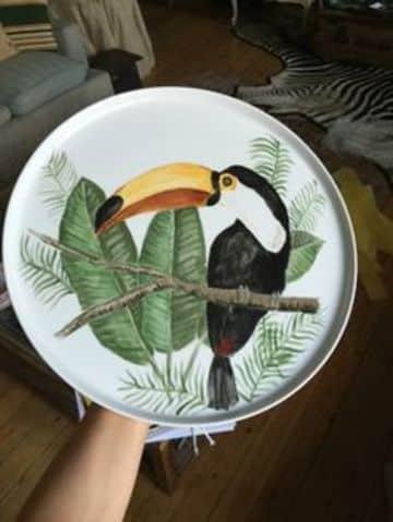 Ceramica pintada a mano para tu cocina y para decorar