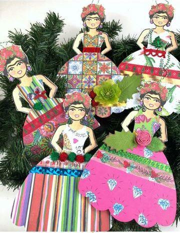 como hacer adornos mexicanos de papel de frida