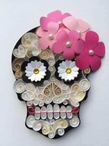 como hacer adornos mexicanos de papel en filigrana
