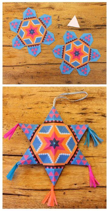 como hacer adornos mexicanos de papel facil de hacer