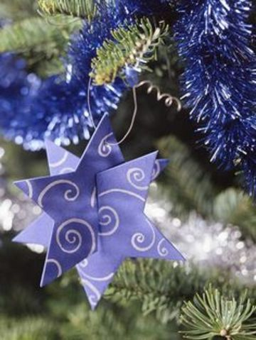 como hacer estrellas de fomi para navidad
