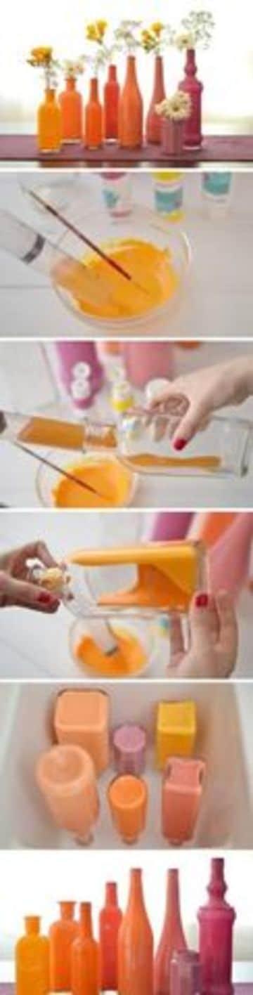 como hacer floreros con botellas paso a paso