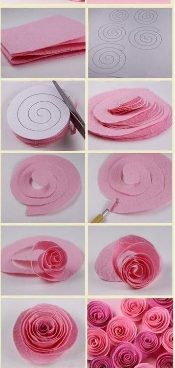 como se hacen flores de tela faciles
