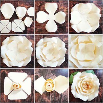como se hacen flores de tela paso a paso