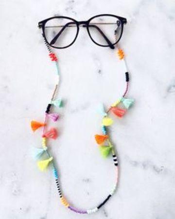 cordones para gafas originales con pompones