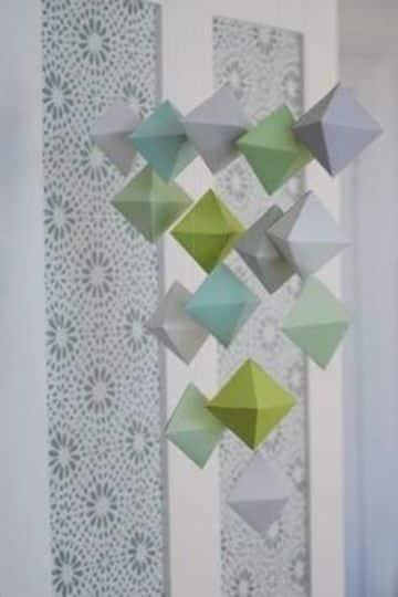 figuras geometricas de papel faciles