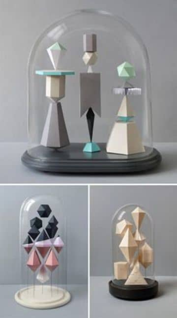 figuras geometricas de papel para decoracion del hogar