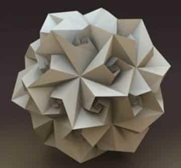 figuras tridimensionales de papel abstractos