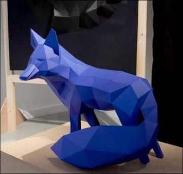 figuras tridimensionales de papel grandes
