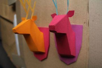 figuras tridimensionales de papel para decorar