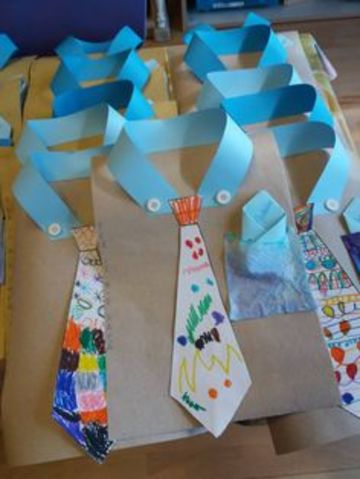 imagenes de corbatas de papel para dia del padre