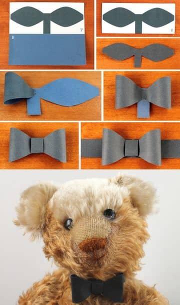 imagenes de corbatas de papel tipo lazo