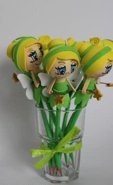 lapices decorados con foami para recuerdos