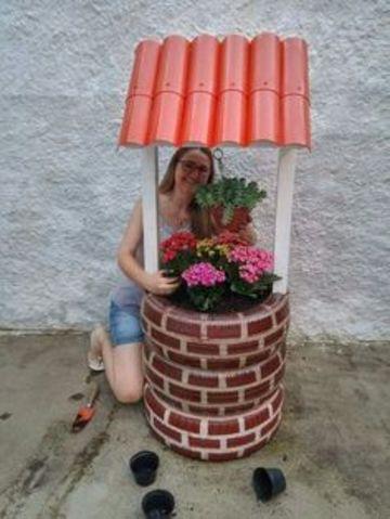 llantas decoradas para jardin pintadas