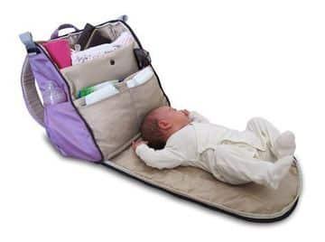mochilas para llevar cosas de bebes con cambiador