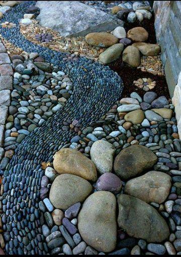 piedras para decorar jardines sin pintar