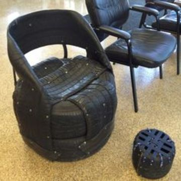 sillones de llantas recicladas rusticos