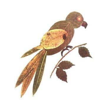 animales hechos con hojas secas faciles