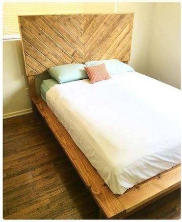 camas con tarimas de madera sencillas y bonitas