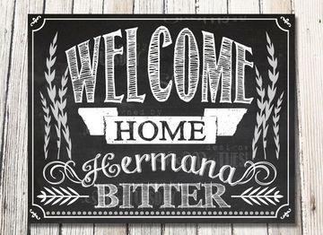 carteles de bienvenida a casa tipo pizarra