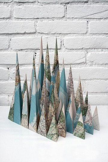 cosas hechas de papel para decorar el hogar