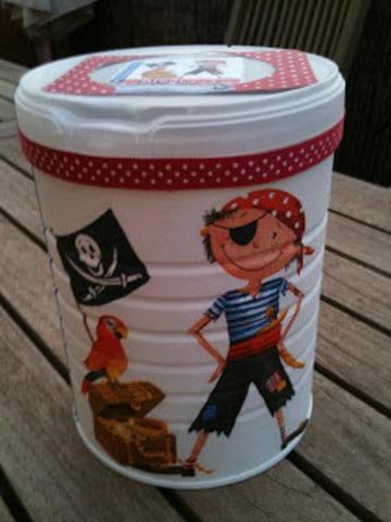 latas de leche decoradas para niños