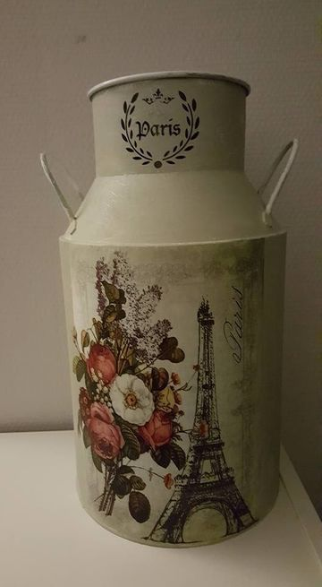 latas de leche decoradas vintage