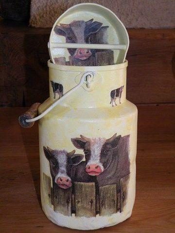 latas de leche decoradas