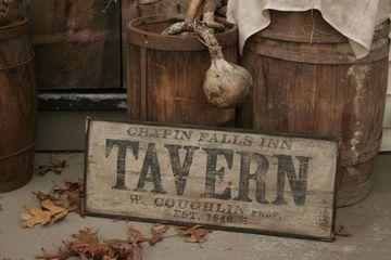 letreros de madera vintage de bares