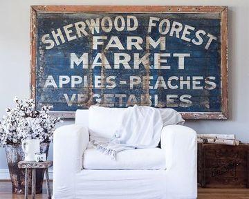 letreros de madera vintage para decorar salas