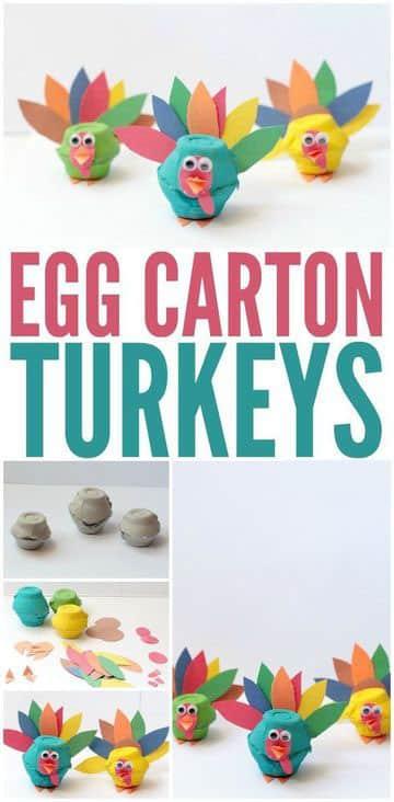 manualidades con carton de huevo para fiestas