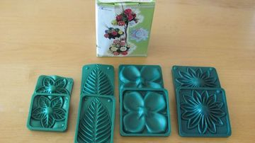 moldes de flores de fomi de hojas y flores