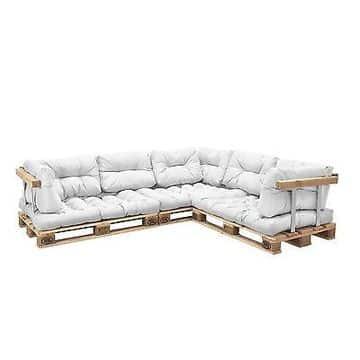 muebles de tarimas recicladas elegantes