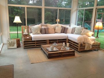muebles de tarimas recicladas para terrazas