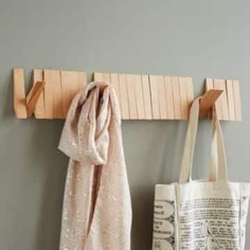 percheros de madera para bolsas economicos