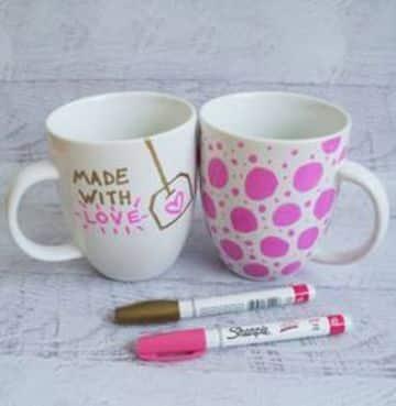 tazas de ceramica decoradas en casa