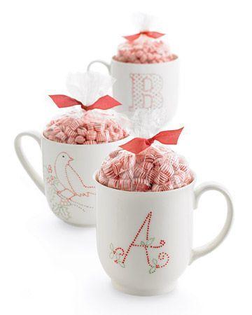 tazas decoradas con dulces personalizadas