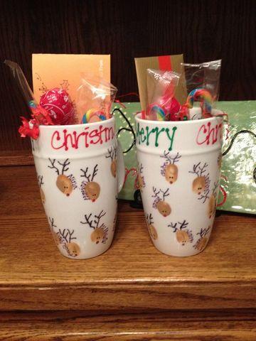 tazas decoradas con dulces sencillas