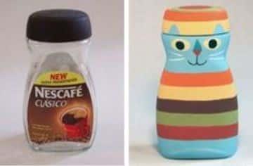 trabajos con botellas de plastico pintadas