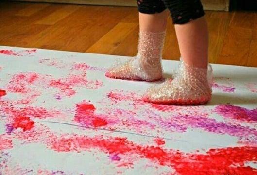 actividades de pintura para niños de 2 a 3 años
