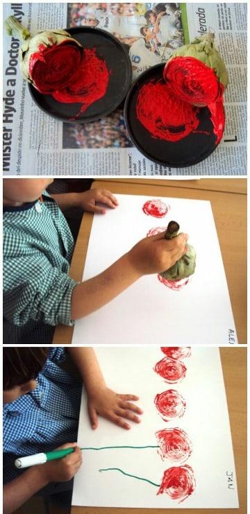 actividades de pintura para niños de preescolar
